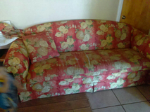 Flowery sofa in Yucca Valley, California