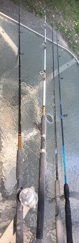 2 Older Fishing Rod Pole American Angler Silstar Graphite Rods Poles in Houston, Texas