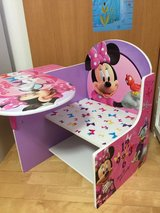 Toddler Chair Desk Minnie Mouse Kids Furniture Children Seat Table in Okinawa, Japan