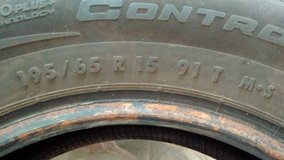 USED - Continental Tires, 195/65 R15 - set of 4 in Bartlett, Illinois