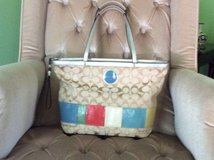 Genuine signature Coach purse/tote , gently used,cloth bag included in Aurora, Illinois