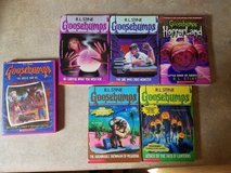 5 Goosebumps books and 1 DVD in Watertown, New York