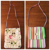 Flipped Bird reversible purse- owls & stripes in Perry, Georgia