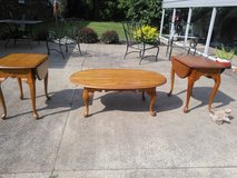 Solid oak coffee table and end tables in Fort Campbell, Kentucky