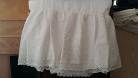 Bed Skirt, White Laced Bottoms - 2 For Full Size Frames in Palatine, Illinois