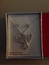 Crystal Angel Necklace and Earring Set in Yorkville, Illinois