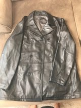 men's black leather jacket.  like new! XXL in Plainfield, Illinois