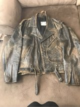 men's vintage leather jacket XL in Plainfield, Illinois