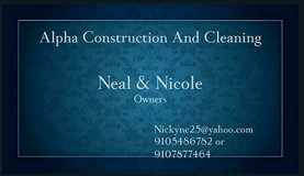 Alpha construction and cleaning service in Camp Lejeune, North Carolina