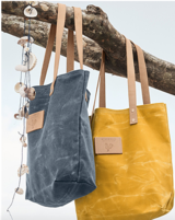 Canvas Tote by Meanwhile Back On The Farm™ (New) Blue in Ramstein, Germany