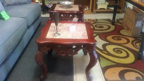 oriental style marble top end tables in Warner Robins, Georgia