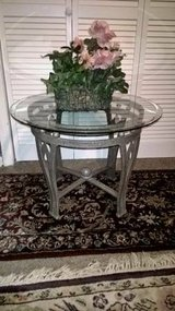 MODERN GLASS TOP OVAL TABLE in Keesler AFB, Mississippi