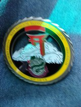 Challenge coin in Fort Campbell, Kentucky