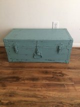 Vintage painted trunk in Houston, Texas