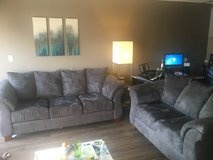 Grey couch and love seat in San Diego, California