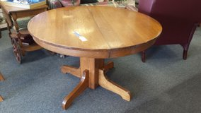 "Antique round Oak Pedastal Table 45"" in Naperville, Illinois"