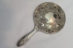 Vintage Hand Mirror, Silver Plated, Good Quality, Vanity, English, Heavy, Glass LAST CHANCE! in Fort Campbell, Kentucky