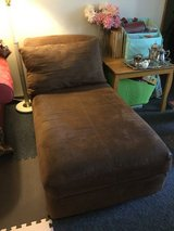 Chocolate brown microfiber chaise in Okinawa, Japan