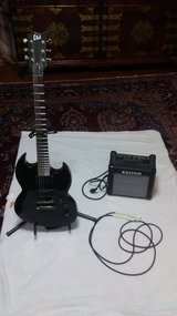 Electric Guitar, wire, and Speaker Set in Beaufort, South Carolina
