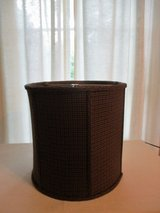 Black/Brown Houndstooth Wool Lampshade in Glendale Heights, Illinois