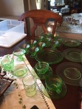 1930's Depression Collector Glass - Green in The Woodlands, Texas