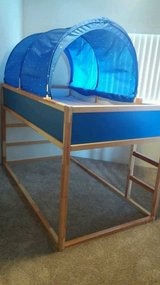 IKEA Twin Loft Bed with Bed Tent (mattress included) in Kaneohe Bay, Hawaii