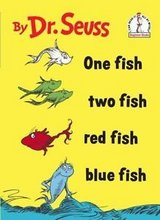 Vintage 1988 Dr Seuss One Fish Two Fish Red Fish Blue Dish Hard Cover Book in Shorewood, Illinois