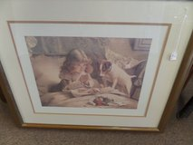 Framed picture (girl and dog) in Cherry Point, North Carolina
