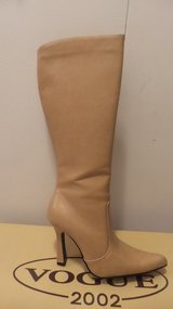 Leather like Nude Boots in Great Lakes, Illinois