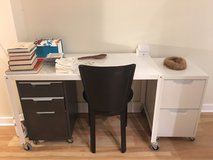 CB2 Go-Cart Desk and File cabinets in Bolling AFB, DC