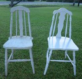 TWO (2) VINTAGE WHITE KITCHEN CHAIRS...$20 FOR BOTH in Cherry Point, North Carolina