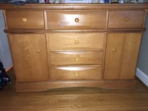 3-piece Nursery/Bedroom Furniture dresser, crib/bed frame, chest of drawers in Plainfield, Illinois