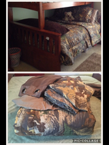 Camo Bed & Curtains in Beaufort, South Carolina