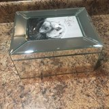 "Personalized ""Twin"" Mirrored Glass Photo Jewelry Box in St. Louis, Missouri"