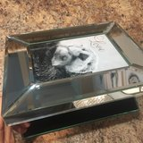 "Personalized ""Twin"" Mirrored Glass Photo Jewelry Box in Naperville, Illinois"
