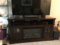Entertainment Center with built in fireplace/heater in Colorado Springs, Colorado