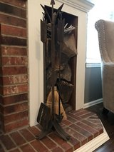 Wrought Iron Arrow shaped fireplace set in Fort Carson, Colorado