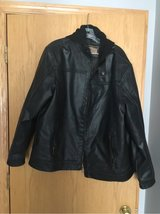 men's xl, leather, hooded jacket Reduced Price in Aurora, Illinois