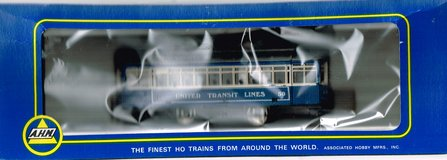 HO Scale A.H.M. Trolley Painted as United Transit Lines # 50 in Joliet, Illinois