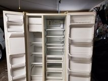 GE Profile, performance Refrigerator,  25.6 cu ft side-by-side in Tomball, Texas