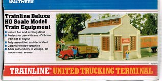 HO Scale Walthers Trainline United Trucking Terminal in Joliet, Illinois