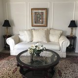 Sofa with 2lamps &flower vase in Kingwood, Texas