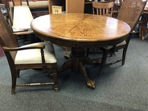 Round pedestal table in Naperville, Illinois