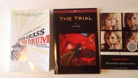 3 German literature books -  the trial, the tin drum, lost honor in Houston, Texas