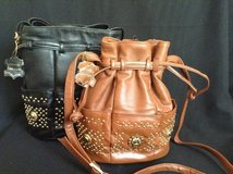 Soft genuine  leather drawstring purse with multiple pockets in 29 Palms, California