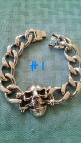 stainless steel mens bracelet- new in Baytown, Texas