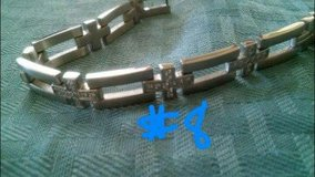 mens stainless steel bracelet- new in Baytown, Texas