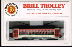 HO Scale Bachmann Brill Trolley as Happy Holidays in Joliet, Illinois