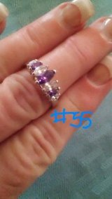 PURPLE  STONE RING, SZS 7-9 in Bellaire, Texas