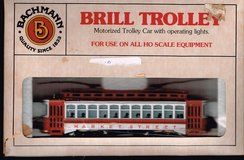 HO Scale Bachmann Brill Trolley Painted for Main Street in Joliet, Illinois